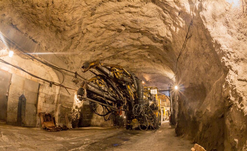 Underground,Tunneling,Machine,At,Work,Mine.,Mine,Equipment.,Heavy,Engineering.